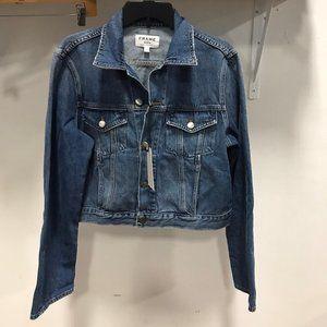 NWT FRAME Denim Crop Jacket S